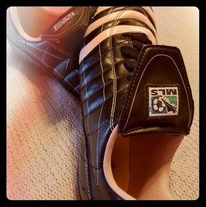 Gently used Adidas MLS Soccer Shoes Pink stripes
